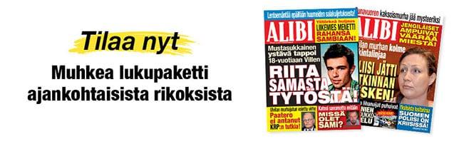 ALIBI - Muhkea lukupaketti ajankohtaisista rikoksista