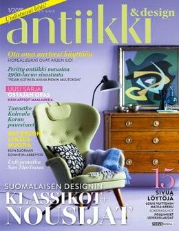 Antiikki ja Design, ensimmäinen numero: Suomalaisen designin nousijat ja klassikot