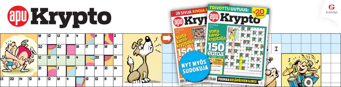 ApuKrypto logo - Nyt myös sudokuja!