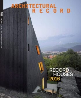 Architectural Record 4/2016. Record Houses 2016.