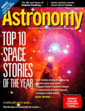 Astronomy 1/2016. Top 10 Space Stories.