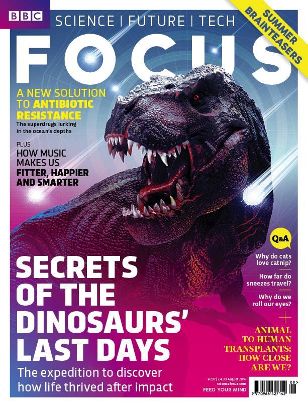 BBC Focus 8/2016. Secrets of Dinosaurs' Last Days.
