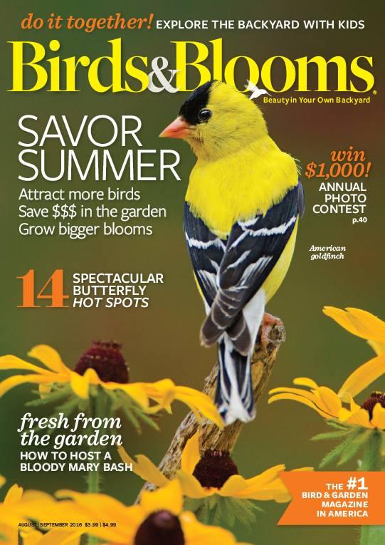 Birds & Blooms 9/2016. Savor Summer.