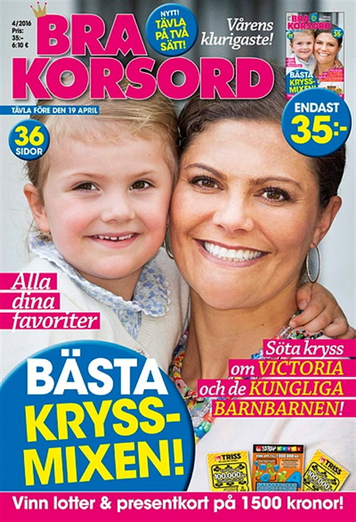 Bra Korsord 4/2016. Victoria och kungliga barnbarnen.