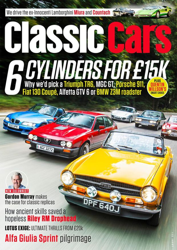 Classic Cars 11/2016. 6 Cylinders for £15k.