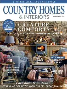 Country Homes & Interiors 2/2017. Creature Comforts - Cuddle up with cosy homespun looks.