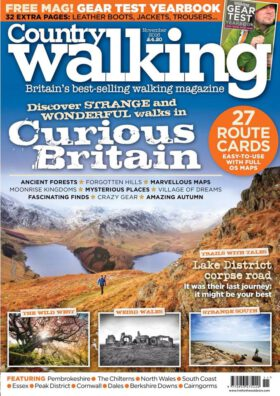Country Walking 11/2016. Discover strange and wonderful walks in curious Britain.