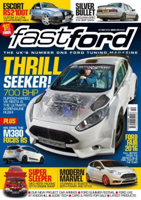 Fast Ford 10/2016. V8 Fiesta. M380 Focus RS.