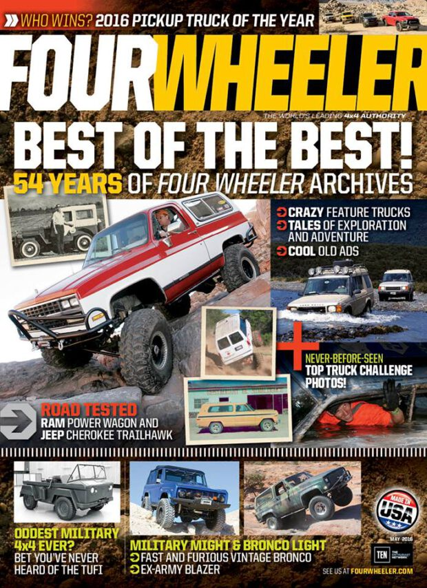 Four Wheeler 5/2016. Best of the Best. 54 Years of Four Wheeler Archives.