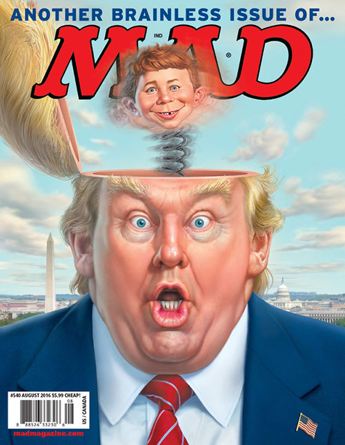 Mad 8/2016. Another brainless issue of Mad.