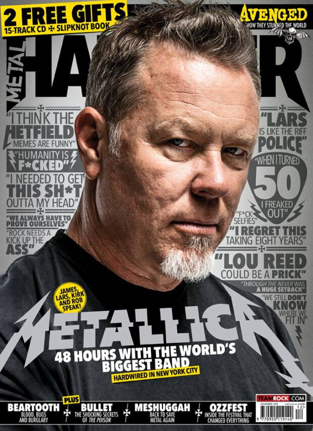 Metal Hammer 11/2016. Metallica - 48 hours with the world's biggest band.